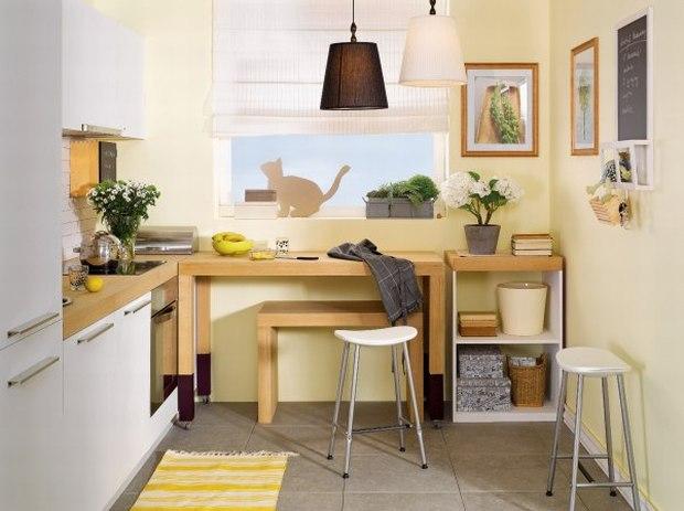 Galeria artykułu Super stół do kuchni Zobacz trzy   -> Mala Kuchnia Z Wyspą Aranżacje