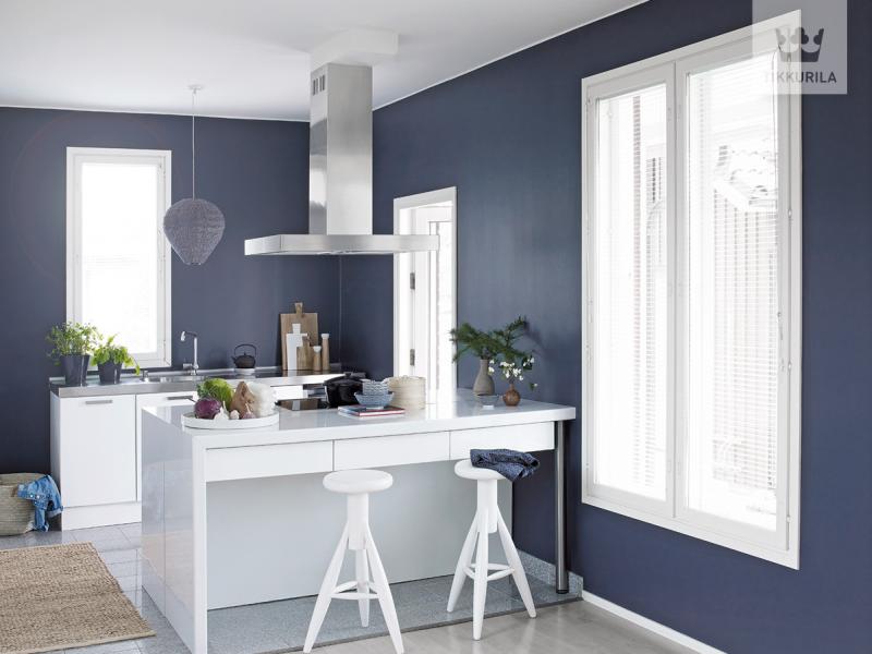 Kolory w kuchni - biel i grafit