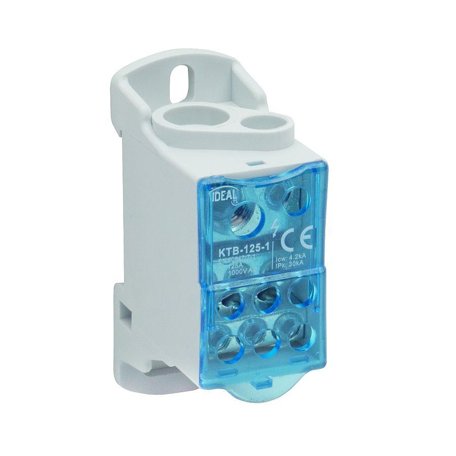 Blok łączeniowy zaciskowy jednopolowy KTB-125-1
