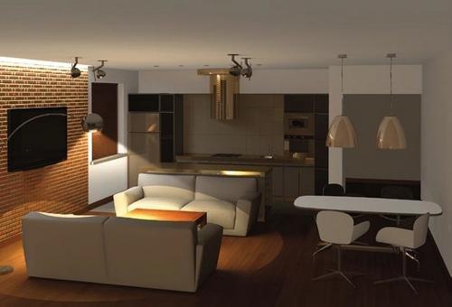 Lampy sufitowe, LED, halogeny? Jakie oświetlenie salonu polecają architekci