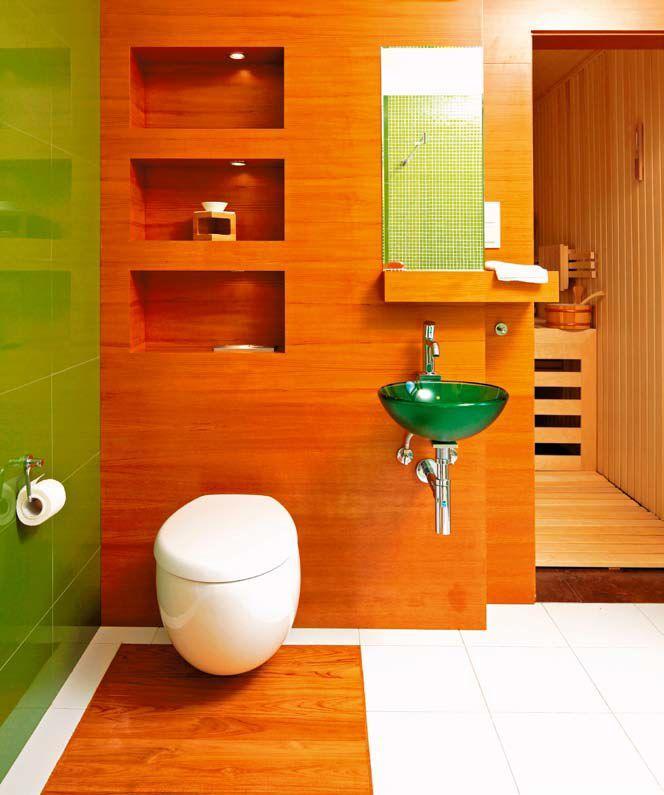 ciana z oklein drewnian pomys na przytuln azienk azienka. Black Bedroom Furniture Sets. Home Design Ideas