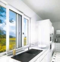 Okno przesuwne w kuchni