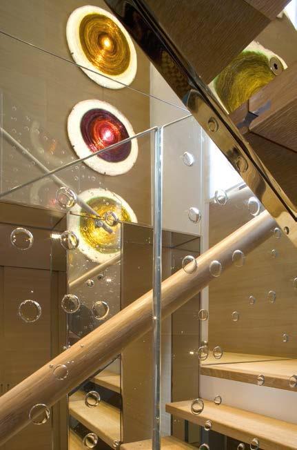 Balustrada ze szkła dekoracyjnego