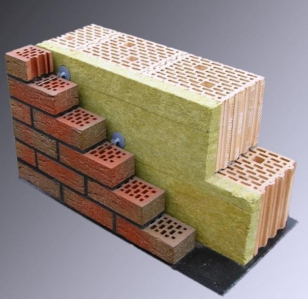 Ściana trójwarstwowa z pustaków ceramicznych