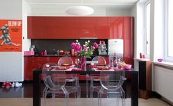 Czerwona kuchnia. Aranżacja kuchni w gorącej czerwieni