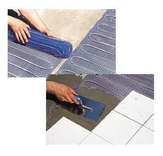 Elektryczne ogrzewanie podłogowe - układanie maty grzewczej
