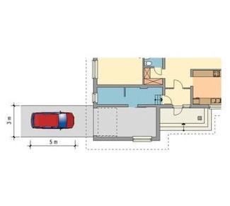Garaż połączony z domem czy garaż w piwnicy? Wady i zalety rozwiązań - Wjazd do garażu na wprost